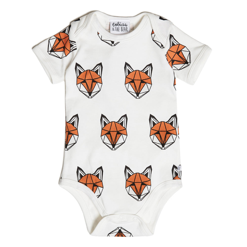 Just Call Me Fox Vest Romper - White