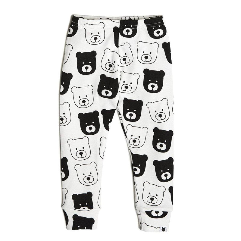 Bear Leggings - Black/White