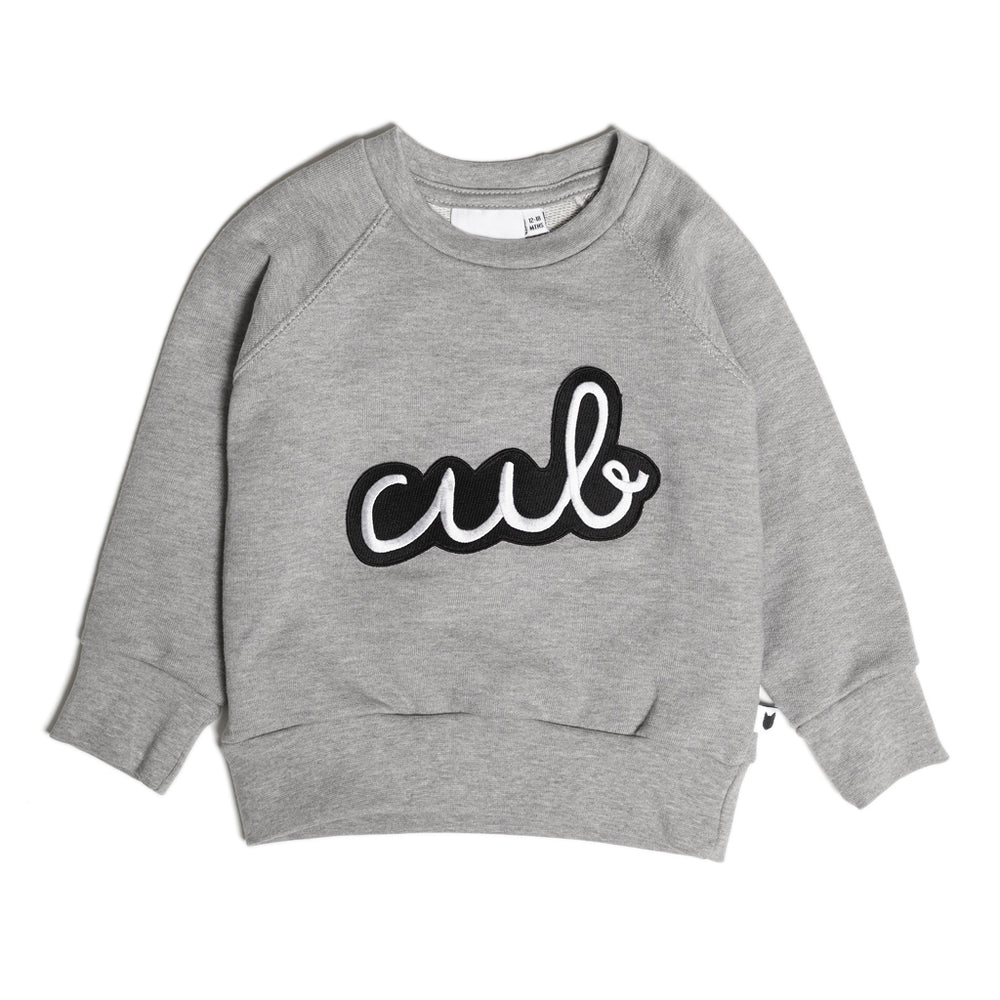 Icons Cub Badge Sweatshirt - Grey Marl