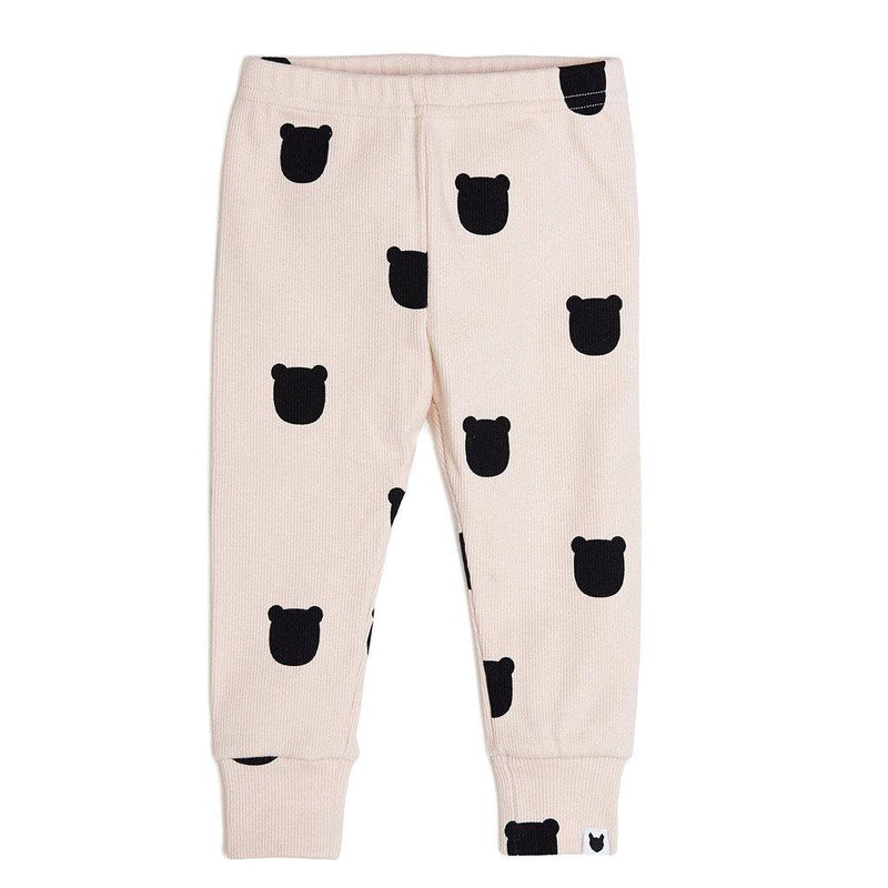 Blush Bear Leggings - Pale Blush