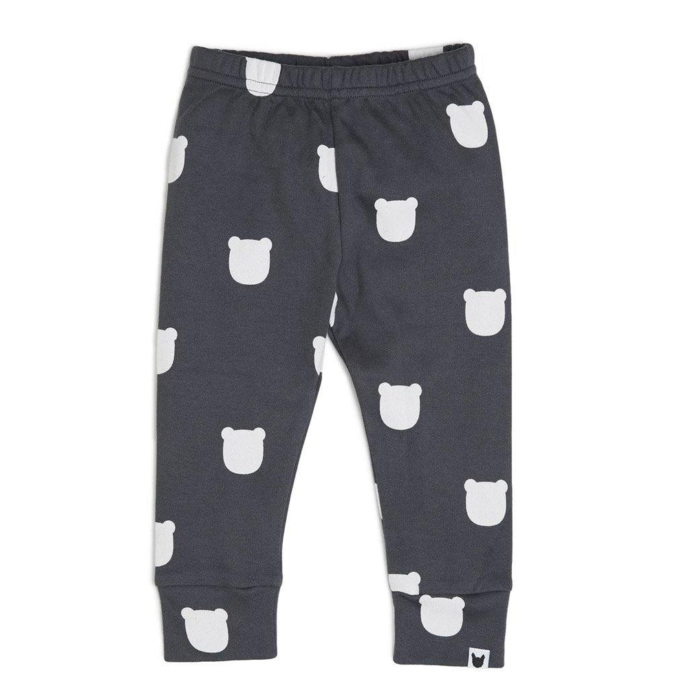 Charcoal Bear Leggings - Charcoal