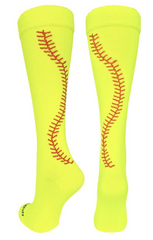 girls softball socks with stitches