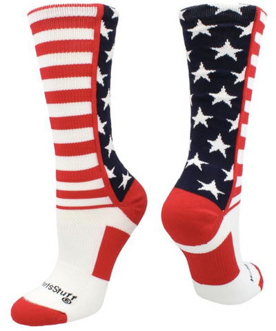 usa flag basketball socks