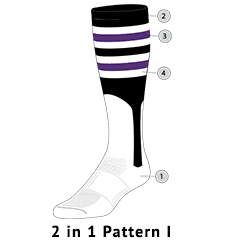 purple striped baseball stirrups