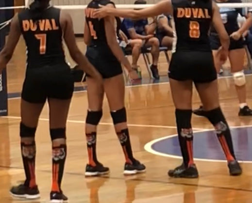 volley ball tiger socks