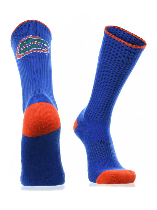 Florida Gators Socks Campus Legend Crew (Blue/Orange/White, Large) - Blue/Orange/White,Large