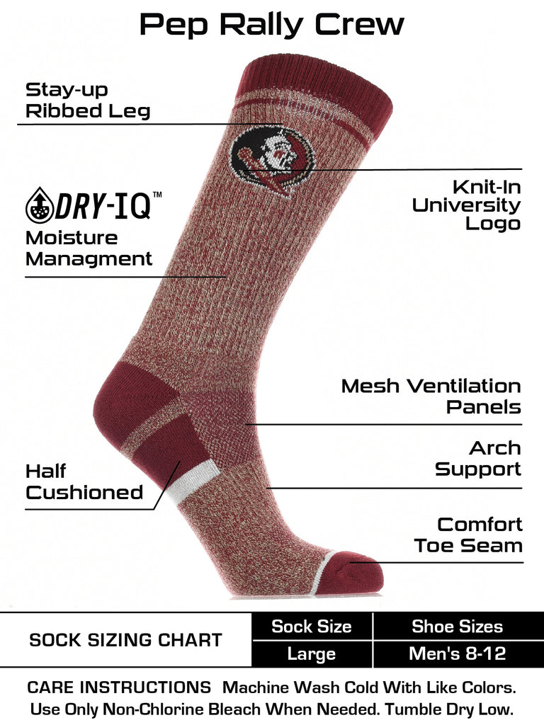 Florida State Seminoles Socks Victory Parade Crew Length
