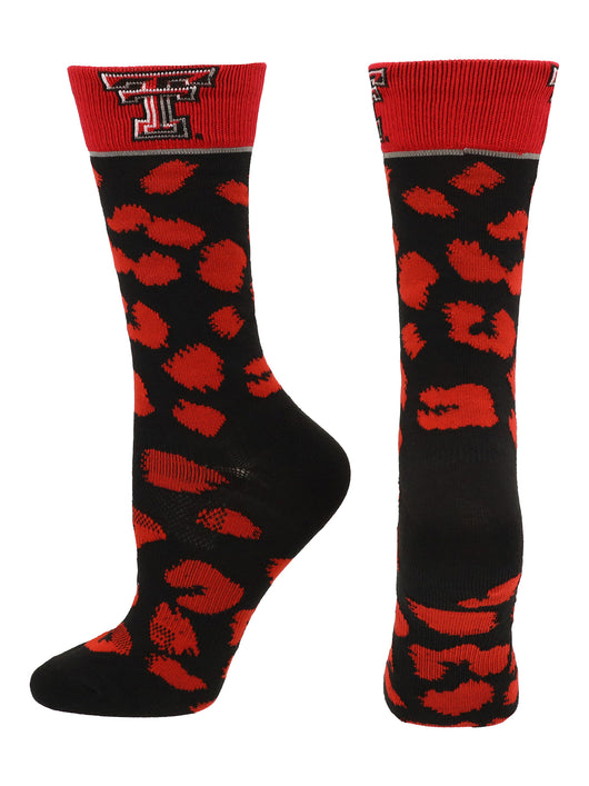 Texas Tech Red Raiders Womens Savage Socks (Scarlet/Black, Medium) - Scarlet/Black,Medium