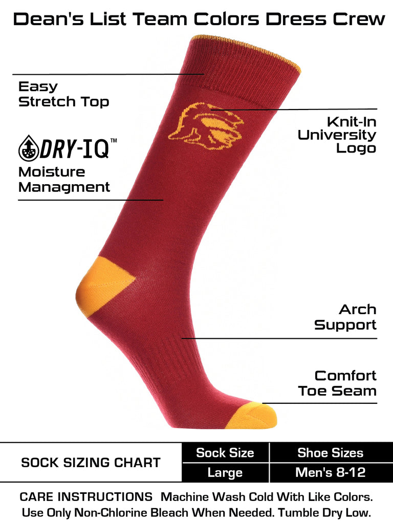 USC Trojans Dress Socks Dean's List Crew Length Socks