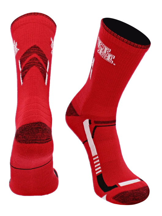 Houston Cougars Champion Crew Socks (Red/Black, Large) - Red/Black,Large