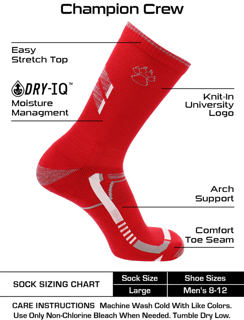 New Mexico Lobos Socks University of New Mexico Lobos Champion Crew Socks