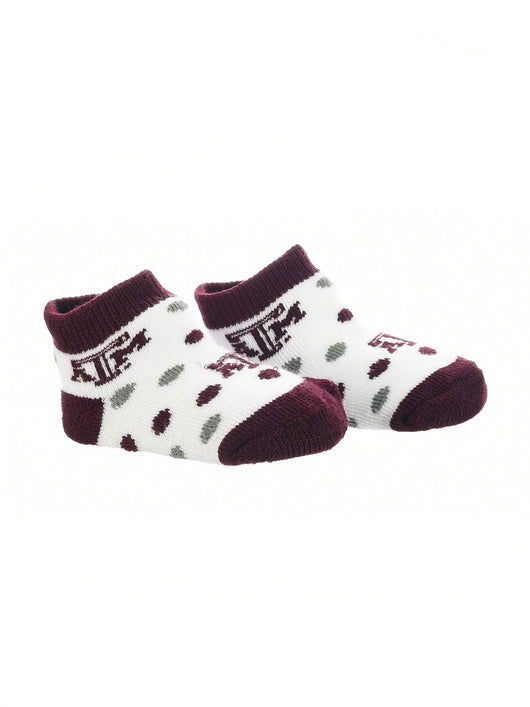 Texas A&M Aggies Toddler Socks Low Cut Little Fan (Maroon/Grey/White, 2T-4T) - Maroon/Grey/White,2T-4T