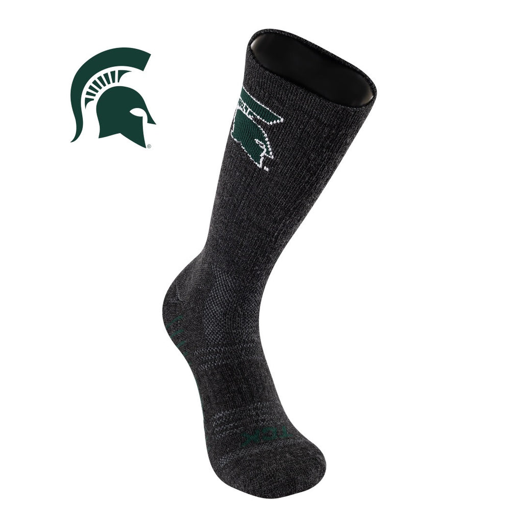 TCK Michigan State University Spartans Socks - Pure Merino Wool - Far Trek