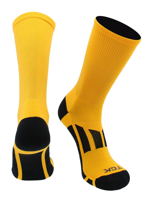 Solid Color great for Football Basketball Volleyball TCK Elite Performance 2.0 Crew Socks