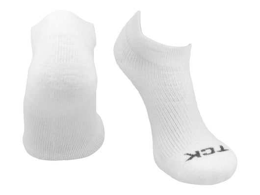 TCK Reacs Quarter Crew Socks (White, Large) - White,Large