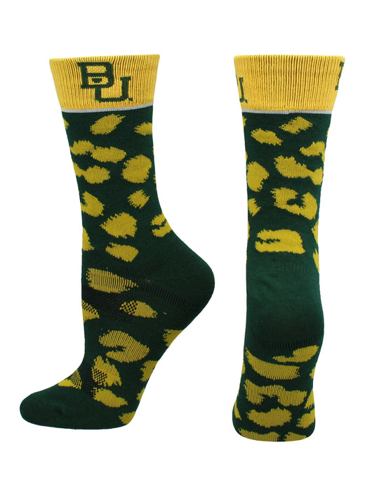 Baylor Bears Womens Savage Socks (Green/Gold, Medium)