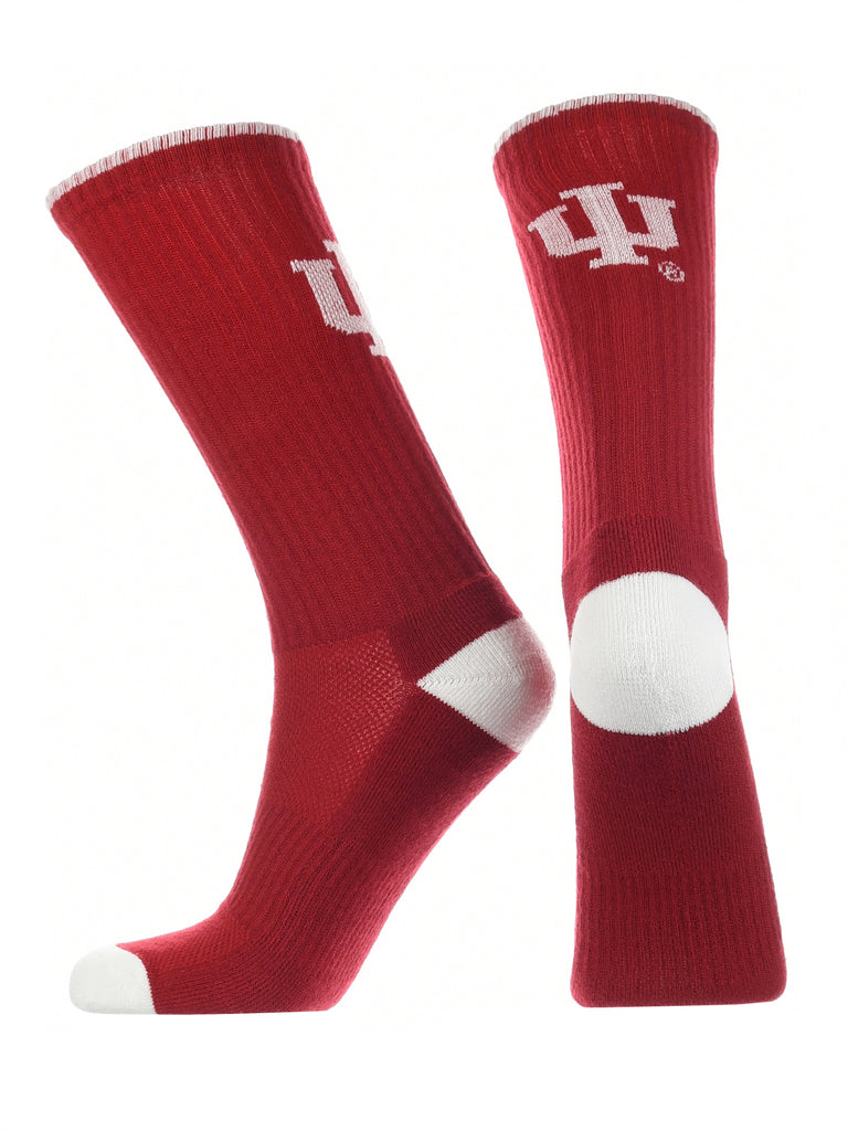 Indiana Hoosiers Socks Campus Legend Crew Length