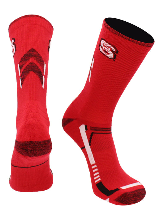 NC State Wolfpack Champion Crew Socks (Red/Black, Large)
