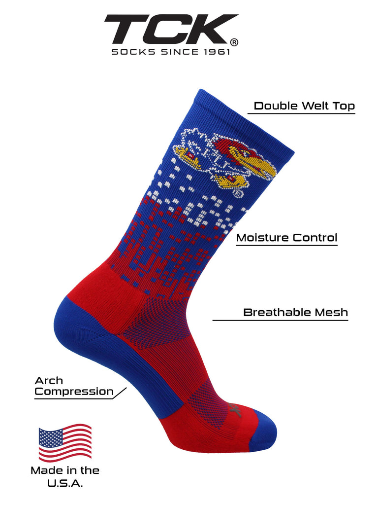 Kansas Jayhawks Socks Downtown Crew