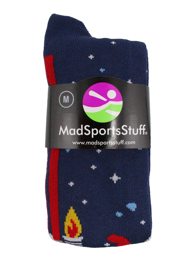 Astronaut in Space Socks Athletic Over the Calf Length