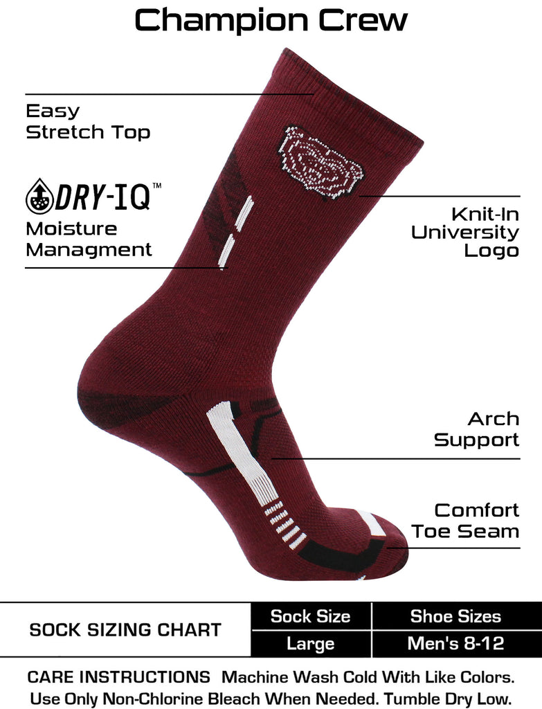 Missouri State Bears Socks Missouri State University Bears Champion Crew Socks
