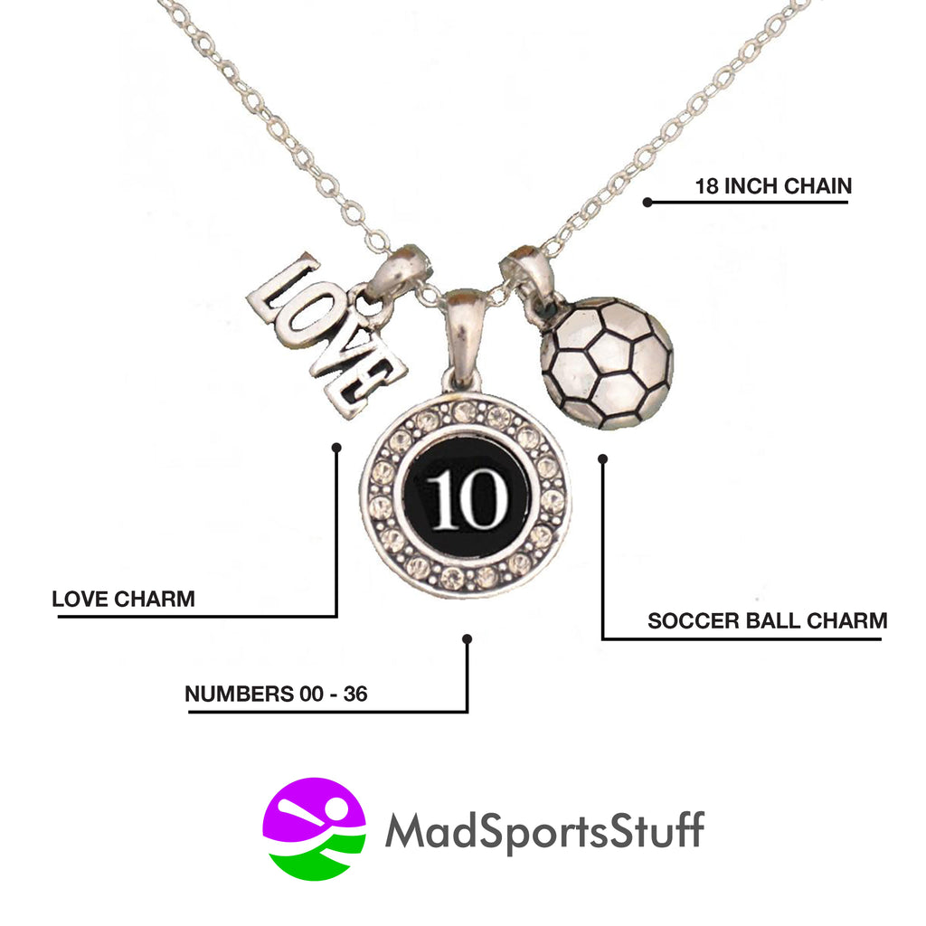 Custom Player Jersey ID Soccer Necklace (Available in 25 numbers)