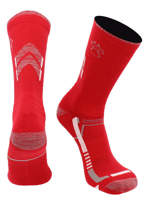 New Mexico Lobos Champion Crew Socks (Red/Black, Large)