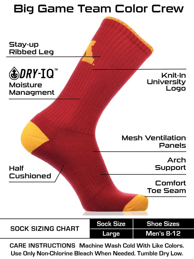 Minnesota Golden Gophers Socks Campus Legend Crew Length