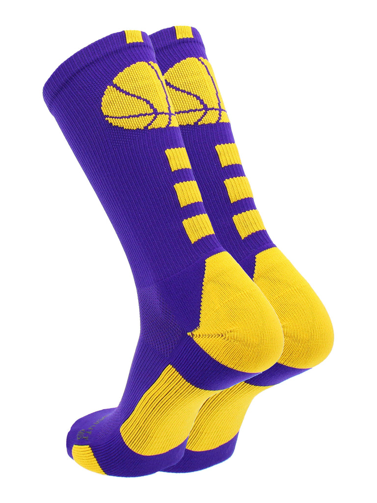 MadSportsStuff Basketball Socks for Boys, Girls, Men, Women- Athletic Crew Socks - Youth and Adult Sizes -Made in The USA