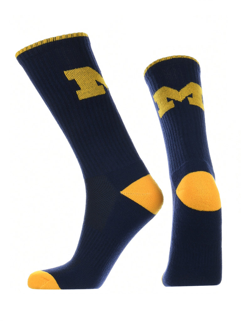 Michigan Wolverines Socks Campus Legend Crew Length