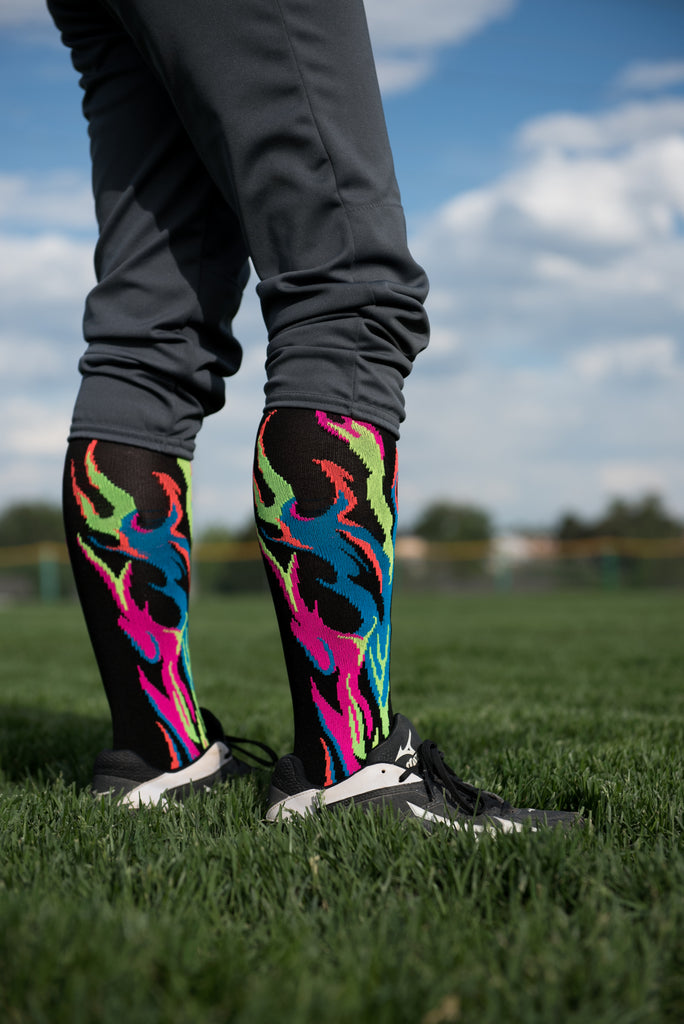 Flame Socks Athletic Over the Calf Socks (multiple colors)