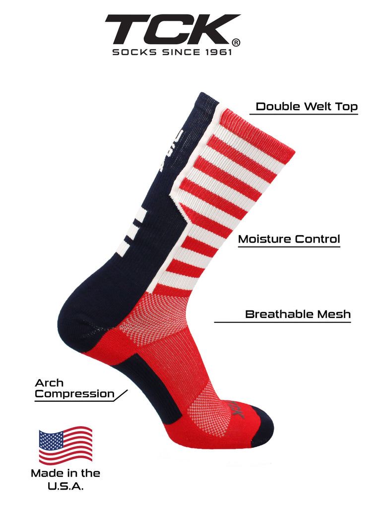 USA American Flag Socks Crew Length USA Strong