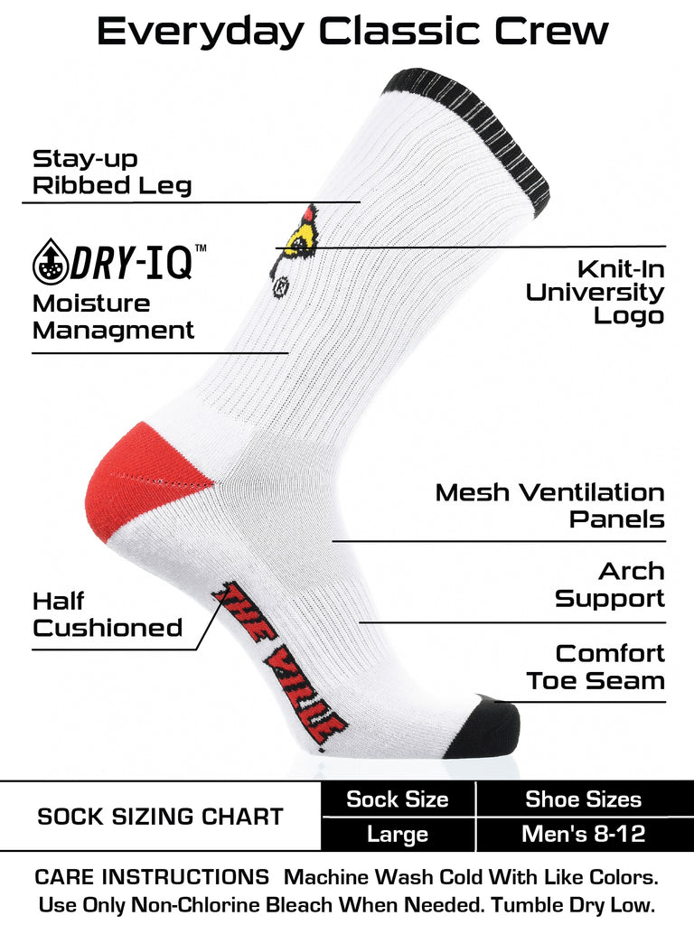Louisville Cardinals Socks Basic Crew White Socks