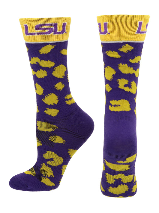 LSU Tigers Womens Savage Socks (Purple/Gold, Medium)