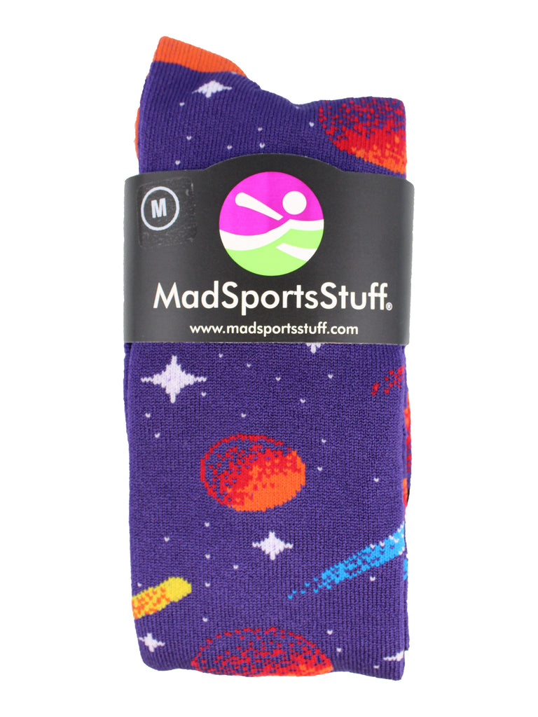 Outer Space Galaxy Socks Athletic Over the Calf Length
