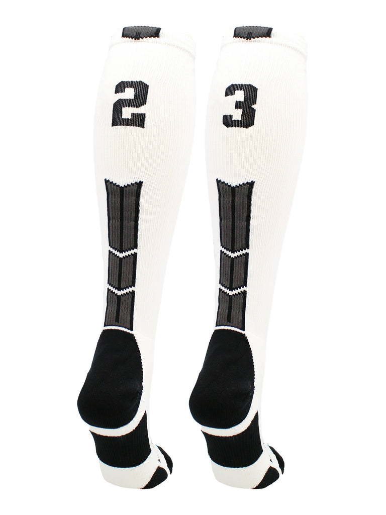 Player Id Jersey Number Socks Over the Calf Length White and Black