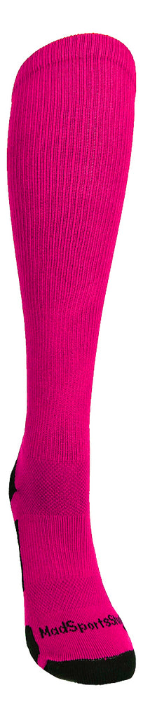Player Id Jersey Number Socks Over the Calf Length Neon Pink and Black