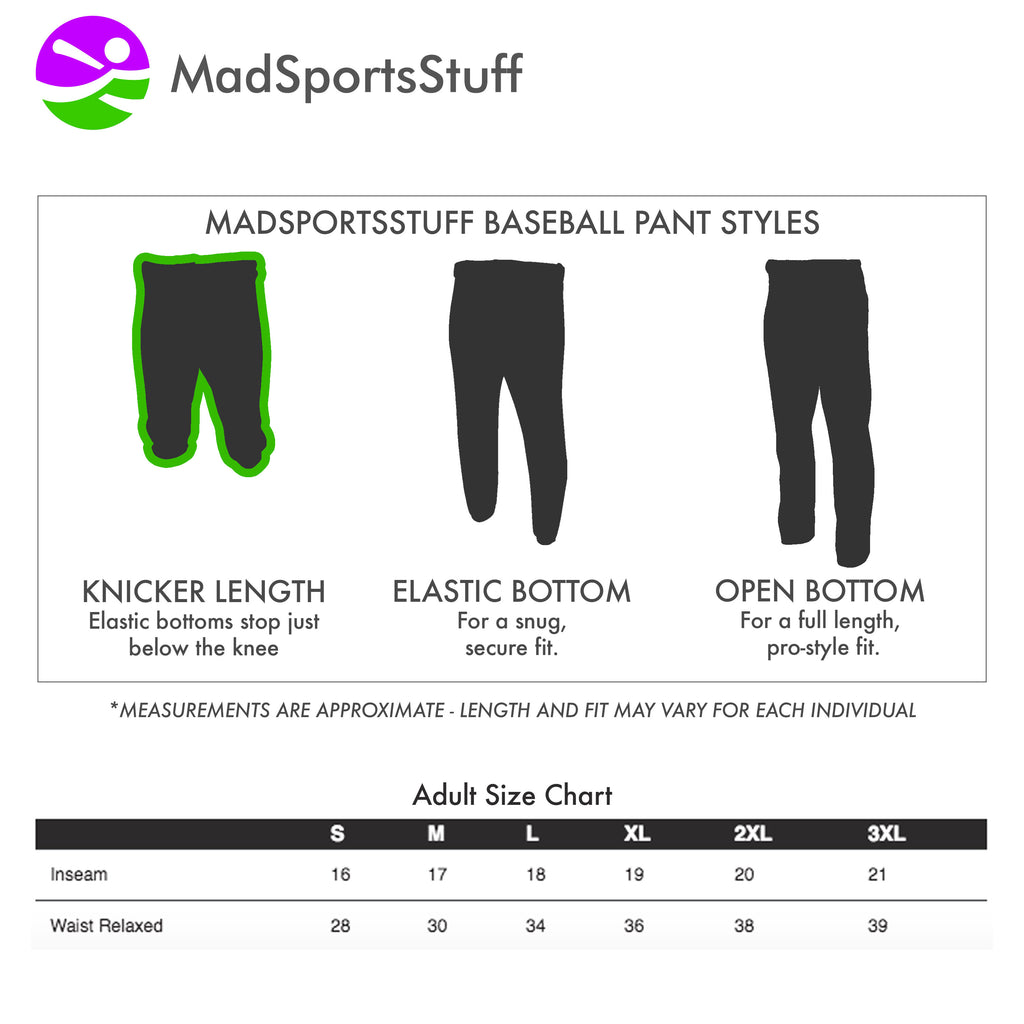 Mens Knickers Baseball Pants Adult Pro Line