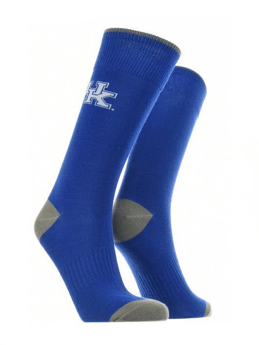 Kentucky Wildcats Dress Socks Dean's List (Blue/Grey/White, Large) - Blue/Grey/White,Large