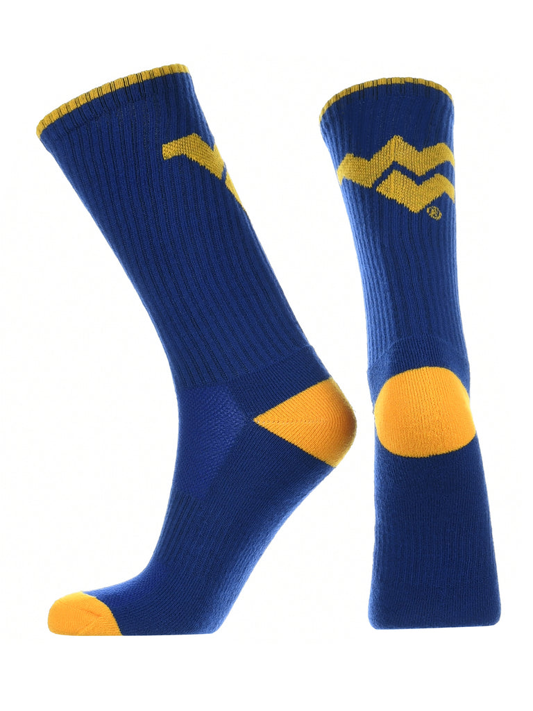 West Virginia Mountaineers Socks Campus Legend Crew Length