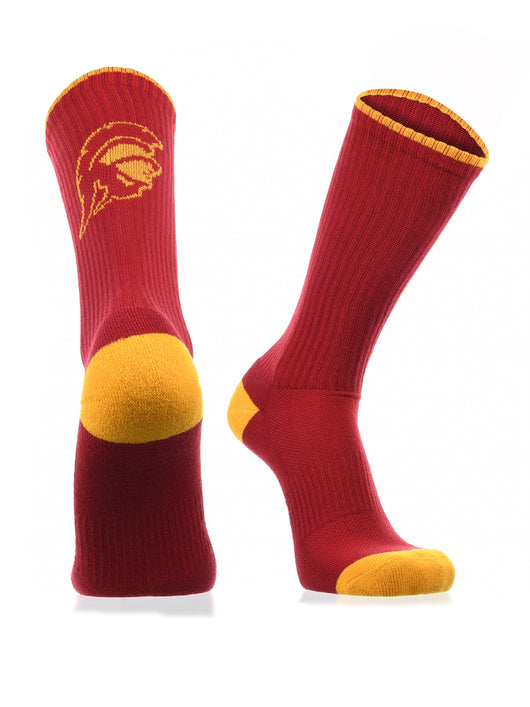 USC Trojans Socks Campus Legend Crew (Red/Gold, Large) - Red/Gold,Large