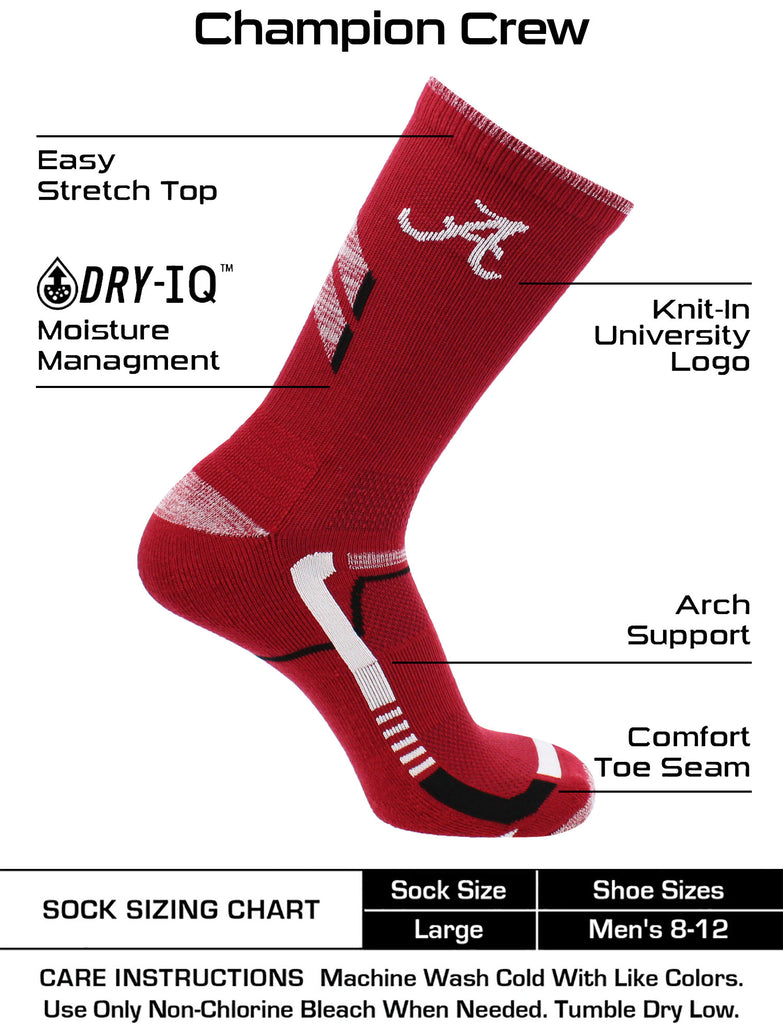 Alabama Crimson Tide Socks University of Alabama Crimson Tide Champion Crew Socks
