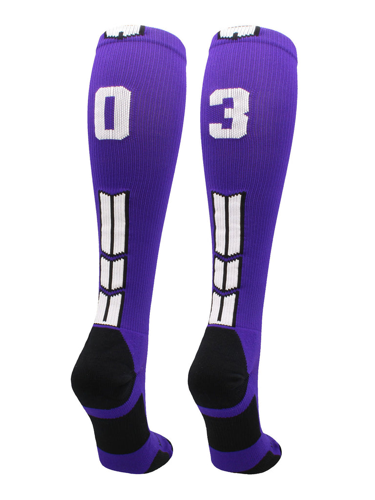 Player Id Jersey Number Socks Over the Calf Length Purple and White