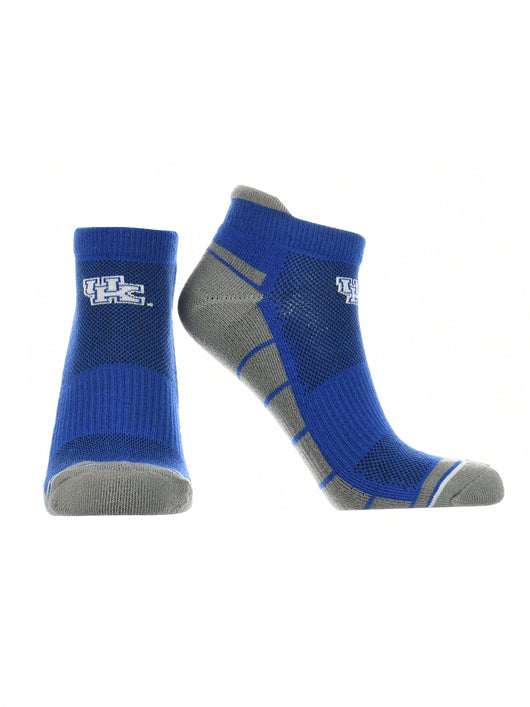 Kentucky Wildcats Low Cut Ankle Socks Tab (Blue/White, Large) - Blue/White,Large