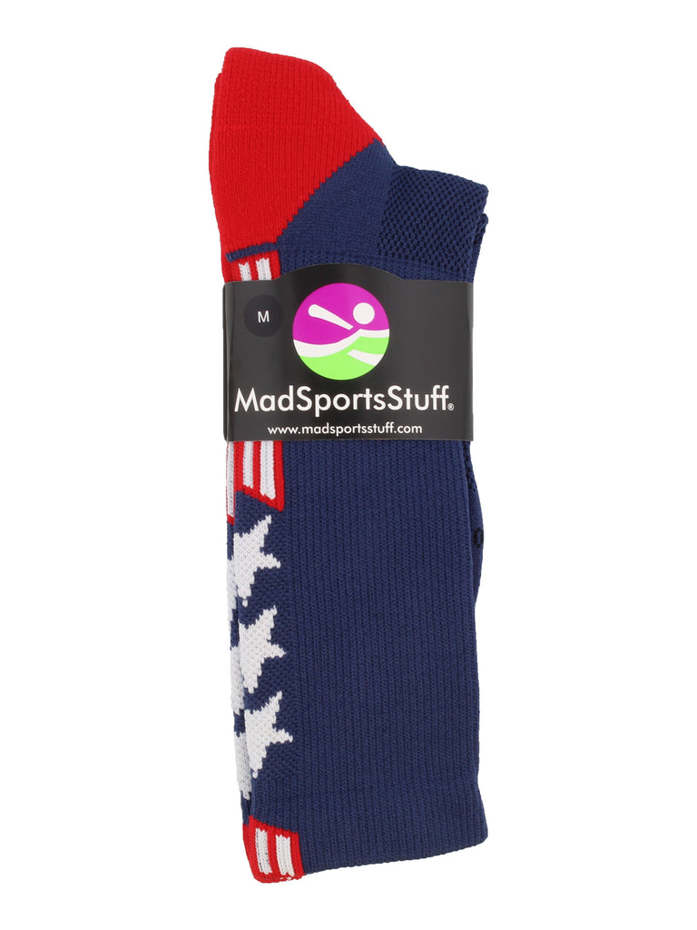 Patriot USA Flag Stars and Stripes Athletic Crew Socks (multiple colors)