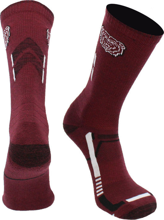 Missouri State Bears Champion Crew Socks (Maroon/Black, Large)