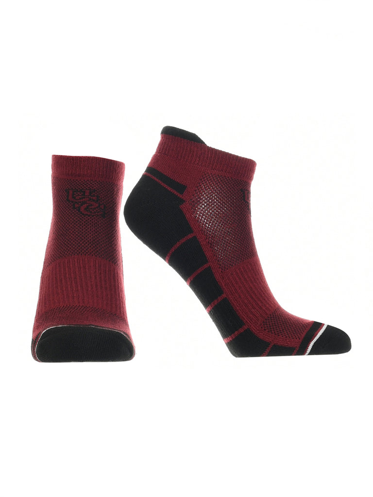 South Carolina Fighting Gamecocks Low Cut Ankle Socks with Tab