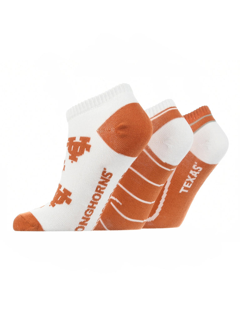 Texas Longhorns No Show Socks Full Field 3 Pack