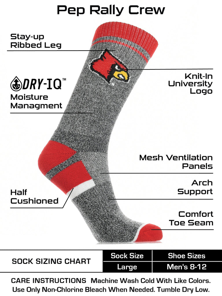 Louisville Cardinals Socks Victory Parade Crew Length