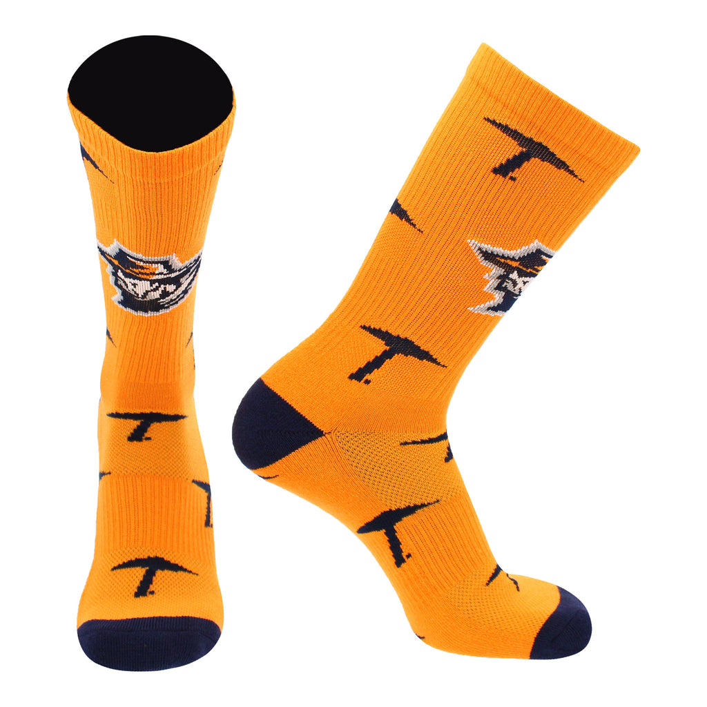 UTEP Miners Socks University of Texas El Paso Miners Mayhem Crew Socks